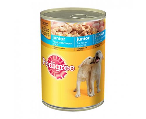 Консерва за кучета Педигри Джуниър 400г Пилешко Месо
