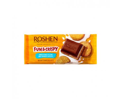 Шоколад Рошен 115г Млечен с крем и бисквитка