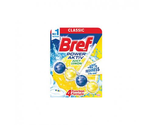 Ароматизатор за тоалетна Бреф 51г Пауър актив топчета Лимон