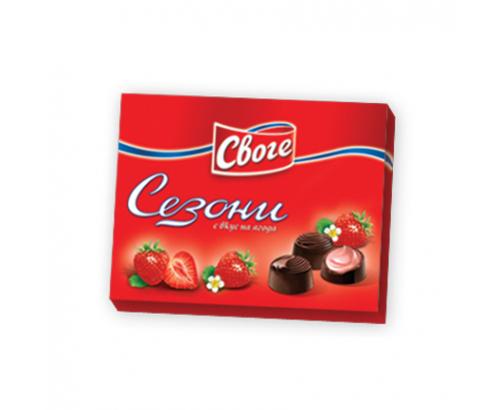 Шоколадови бонбони Сезони 160г Ягода