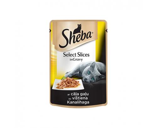 Храна за котки Шеба 85г Пауч Пилешко Месо