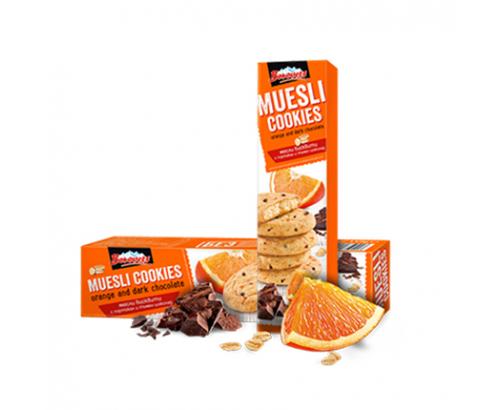 Бисквити Мюсли Боровец 110г портокал и тъмен шоколад