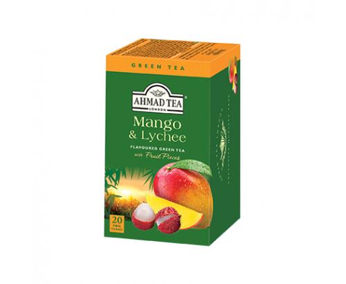 Чай Ахмад 20бр Зелен с манго