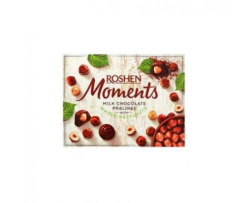Шоколадови бонбони Рошен Моменти 116г Цял лешник