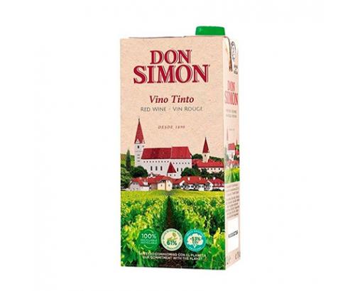 Вино Дон Симон 1л Червено