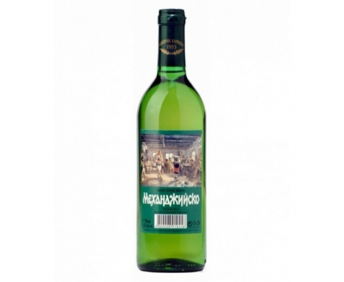 Вино Механджийско 750мл Бяло