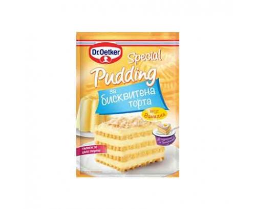 Пудинг за бисквитена торта Д-р Йоткер 70г Ванилия