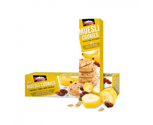 Бисквити Мюсли Боровец 110г бананов чипс и стафиди