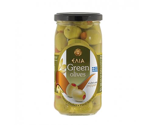 Зелени маслини с чушка Елиа 360г
