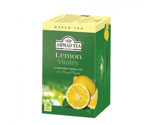 Чай Ахмад 20бр Зелен с лимон