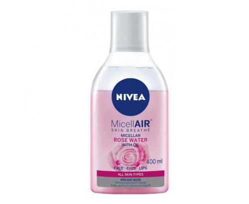 Мицеларна вода Нивеа 400мл Розово масло