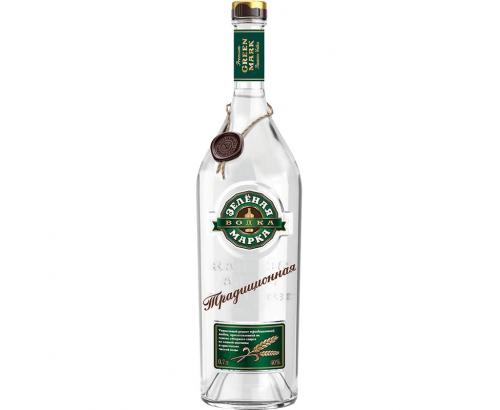 Водка Зельоная марка 700мл Пшенична