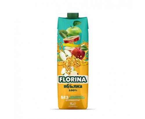 Натурален сок Флорина 1л Ябълка 100%