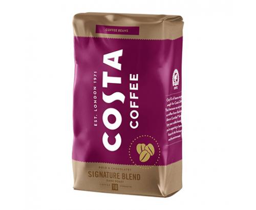 Кафе на зърна Коста 1кг Сигничър Дарк