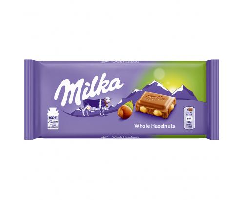 Шоколад Милка 100г Цял лешник