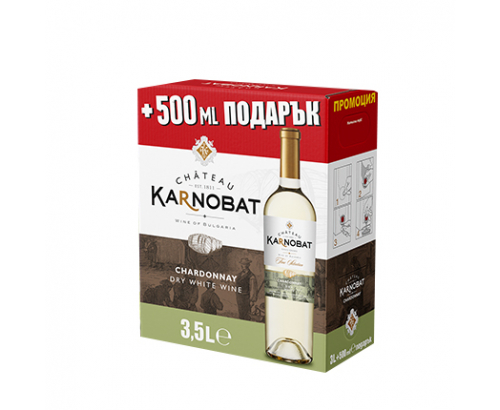 Вино Шато Карнобат 3,5л Шардоне