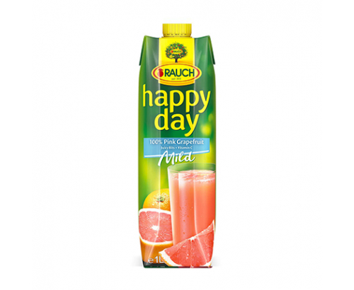 Натурален сок Хепи Дей 1л Розов грейпфрут