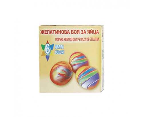 Боя за яйца Дидра 6 цвята Желатинова