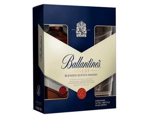 Уиски Балантайнс 700мл + 2 чаши