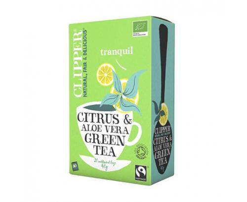 Био зелен чай Клипър 20бр Алое вера и цитруси