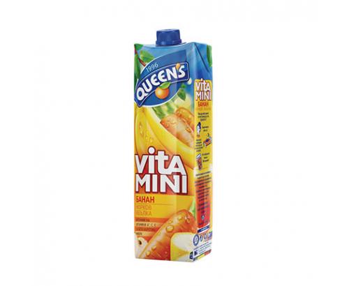 Сок Куинс Витамини 1л Банан, ябълка и морков