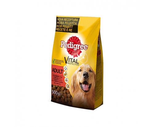 Храна за кучета Педигри 500г Суха Говеждо и пилешко месо