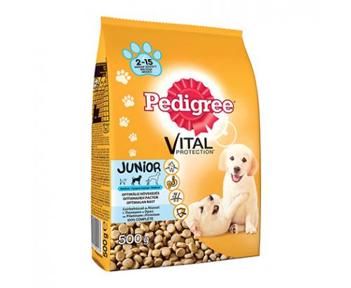 Храна за кучета Педигри Джуниър 500г Суха Пилешко месо и ориз