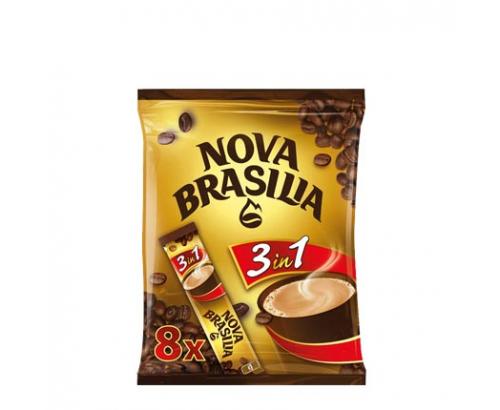 Разтворима кафе напитка Нова Бразилия 3в1 8х13г