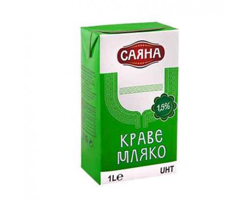 Прясно мляко Саяна 1,5% 1л УХТ