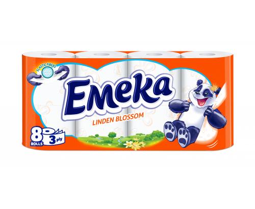 Тоалетна хартия Емека 8бр Линден
