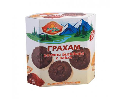 Бисквити Грахам 215г Постни с какао