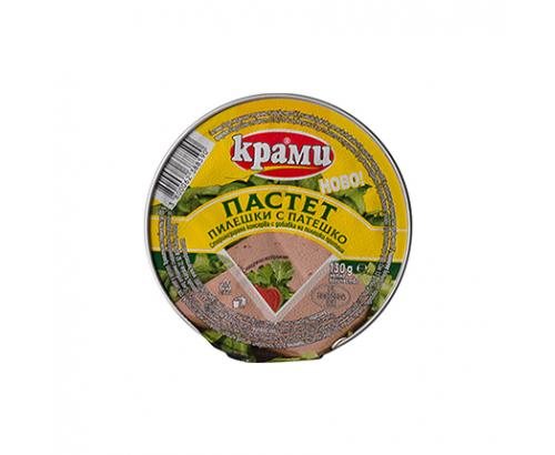 Пастет Крами 130г Пилешко месо и черен дроб