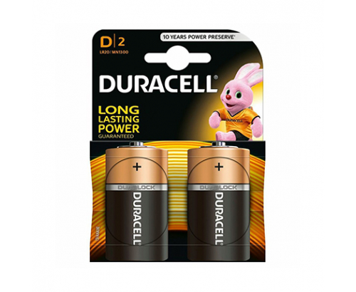 Батерии Дюрасел 2бр D Алкални
