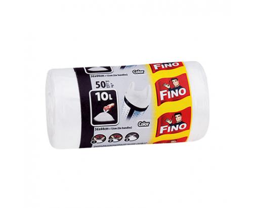Торби за смет Фино 10л Цветни с дръжки
