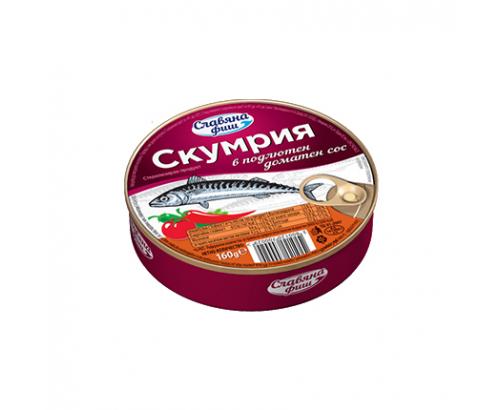 Скумрия Славяна Фиш 160г Подлютен доматен сос