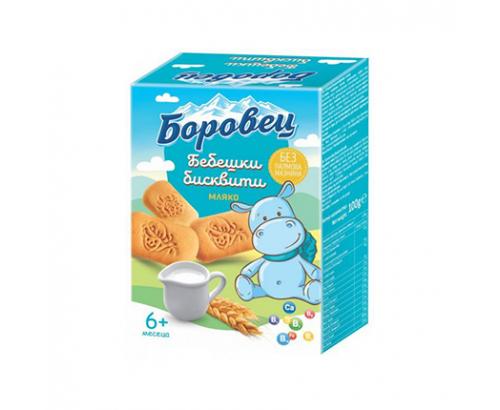 Бебешки бисквити Боровец 100г Мляко
