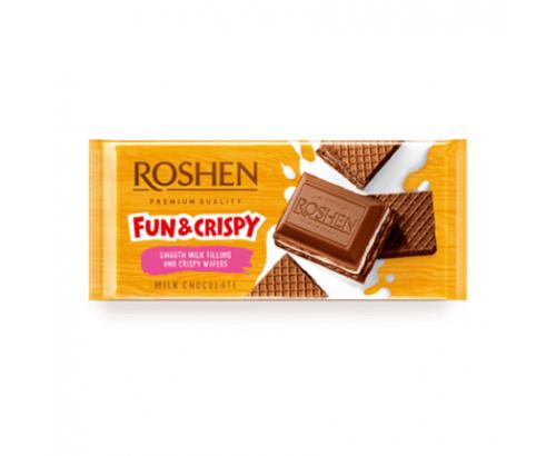 Шоколад Рошен 105г Млечен крем и вафла