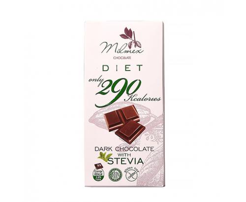 Шоколад Милмекс 290 80г Без глутен със стевия нискокалоричен