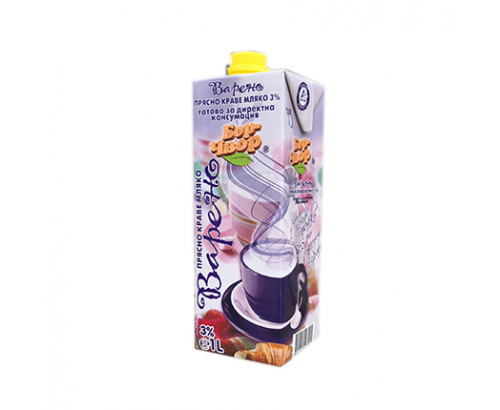 Прясно мляко Бор Чвор 3% 1л Варено