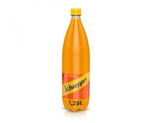 Газирана напитка Швепс 1,25л Мандарина