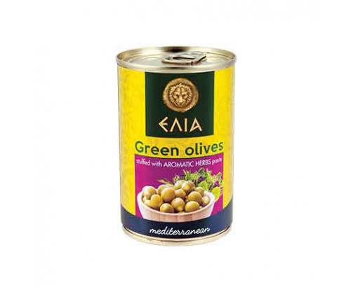 Зелени маслини с паста от ароматни подправки Елиа 300г