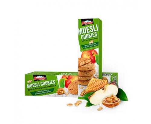 Бисквити Мюсли Боровец 110г ябълки, мед и орехи