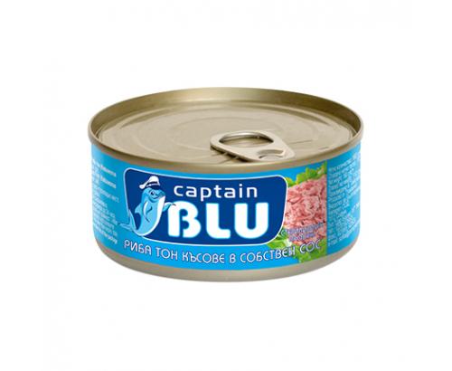 Риба Тон парченца Кептън Блу 160г Собствен сос