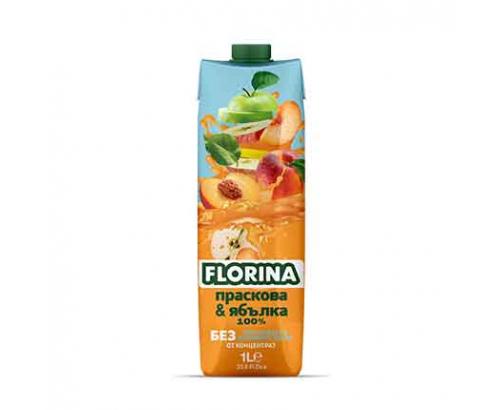 Натурален сок Флорина 1л Праскова и ябълка 100%