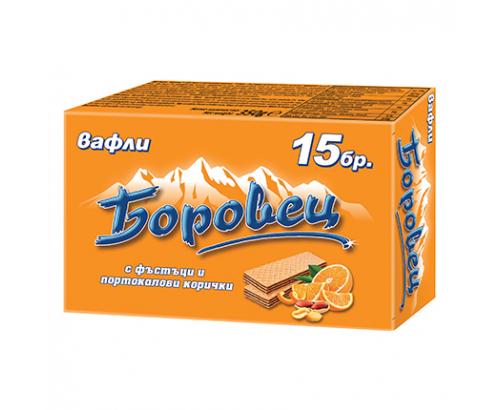 Вафли Боровец 375г Портокал