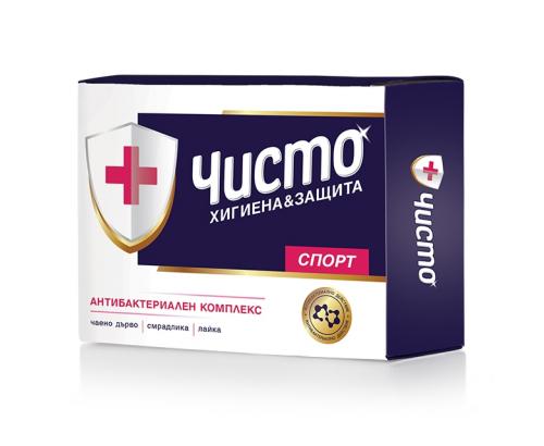Антибактериален сапун Чисто 100г Спорт