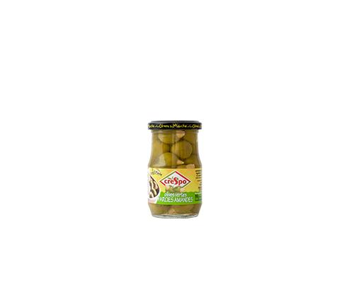 Зелени маслини Креспо 198г С бадем