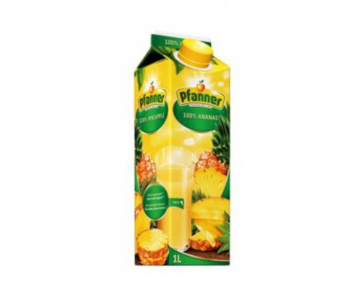 Натурален сок Пфанер 1л 100% Ананас