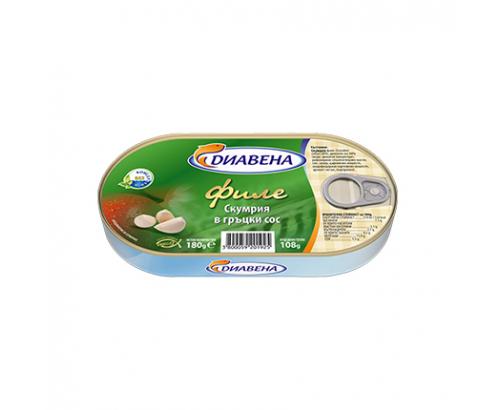 Скумрия филе Диавена 180г Гръцки сос