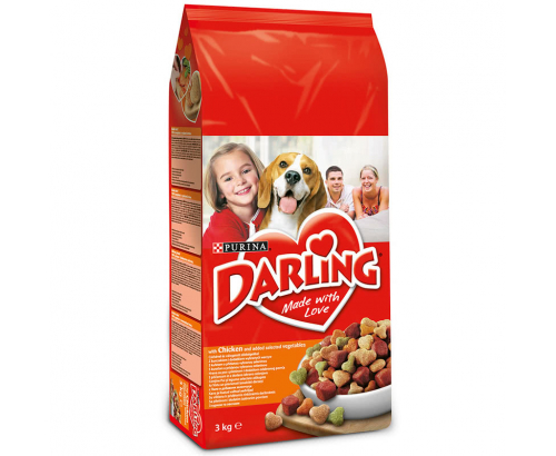 Храна за кучета Дарлинг 3кг Суха Пиле и зеленчуци